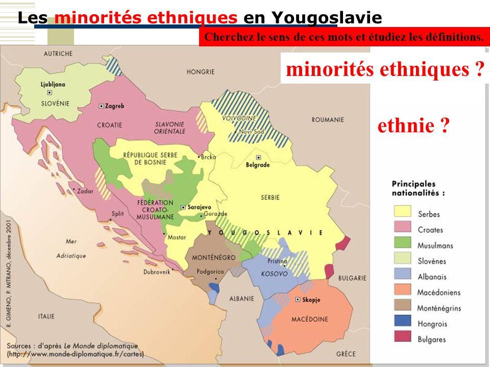 Les minorités ethniques en Yougoslavie