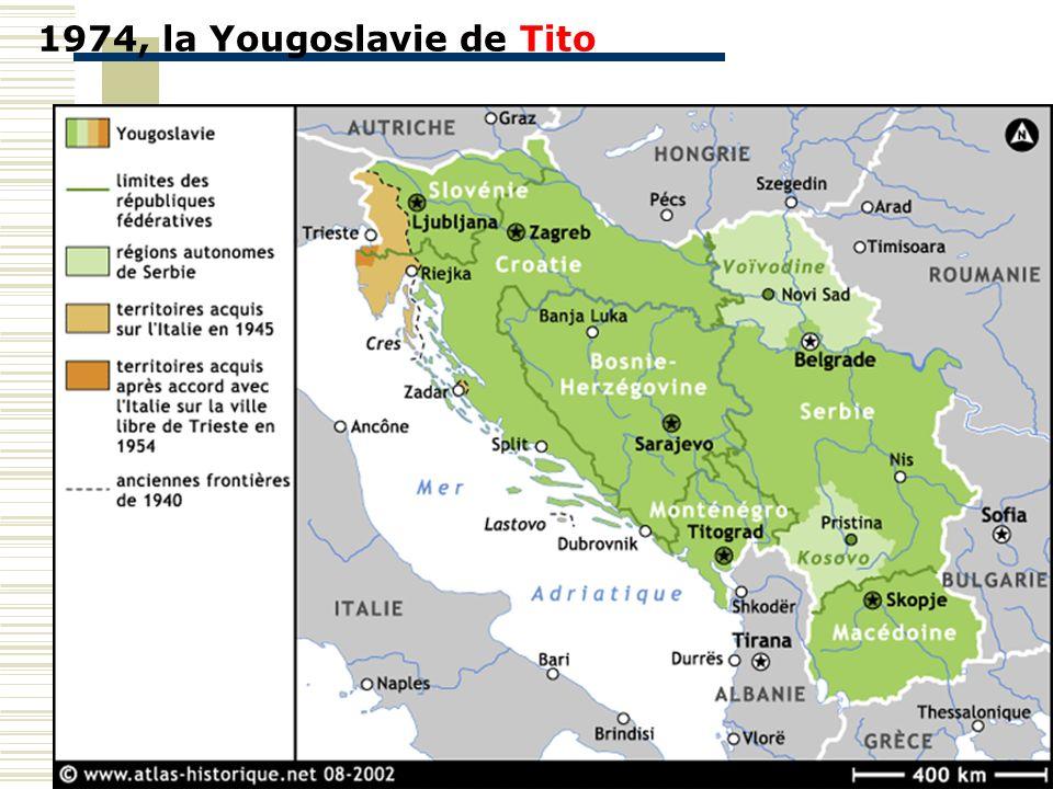 1974, la Yougoslavie de Tito Notion de fédéralisme par rapport à centralisme.