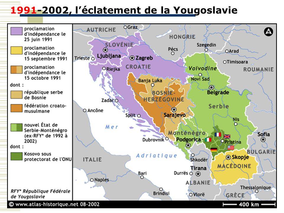 1991-2002, l'éclatement de la Yougoslavie