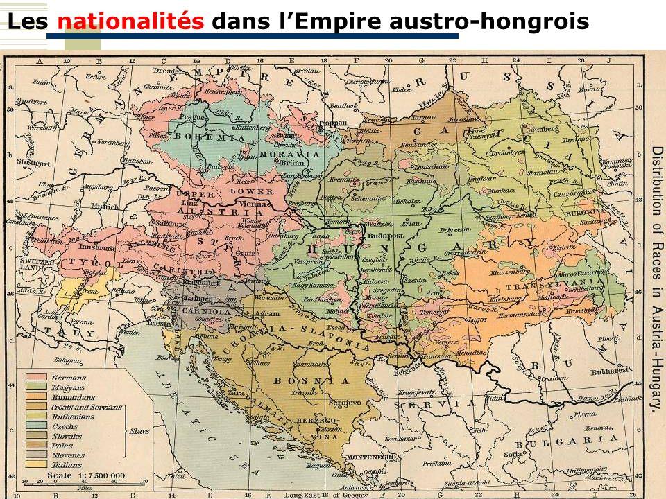 Les nationalités dans l'Empire austro-hongrois