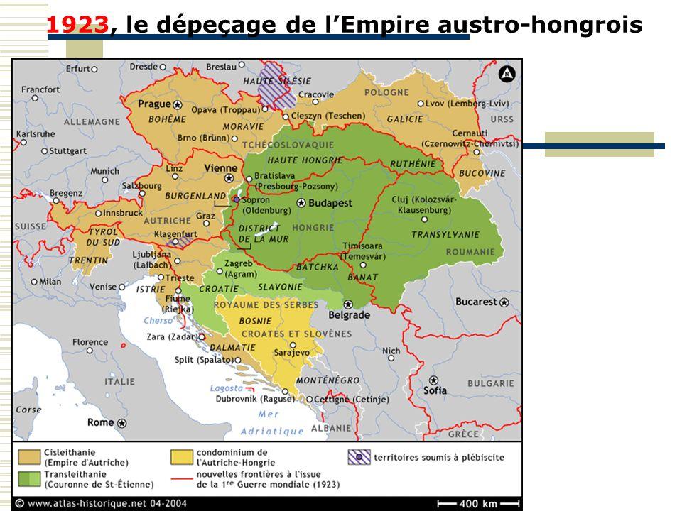 1923, le dépeçage de l'Empire austro-hongrois