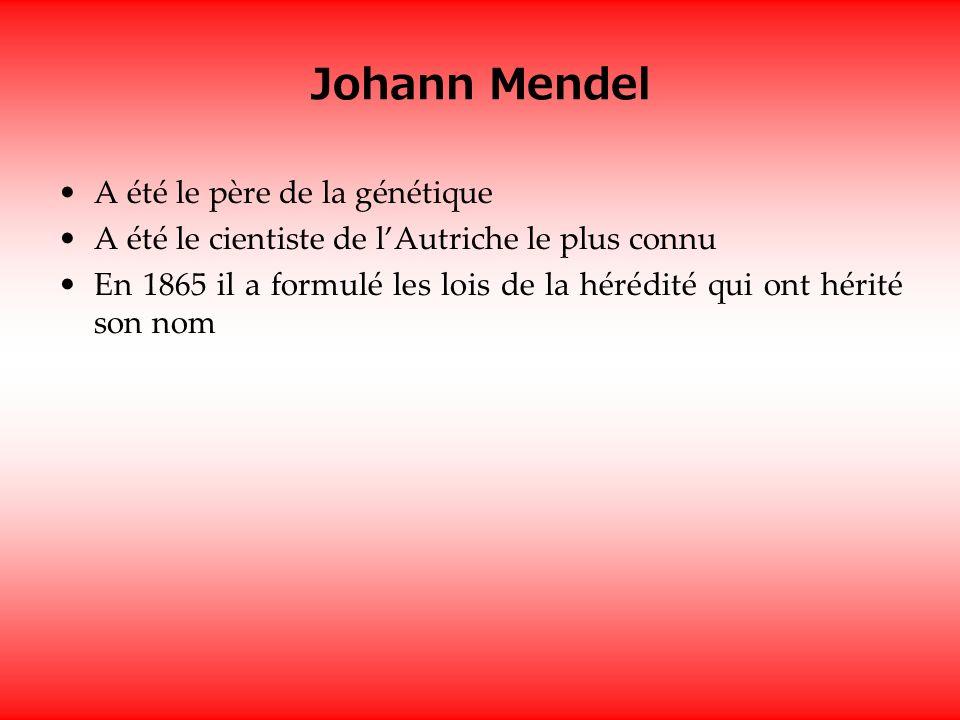 Johann Mendel A été le père de la génétique
