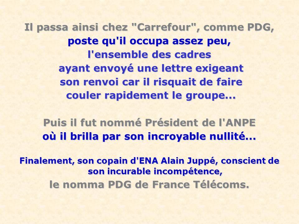 Il passa ainsi chez Carrefour , comme PDG,