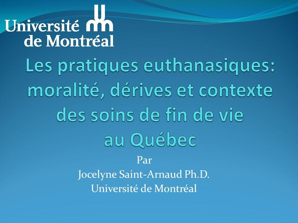 Par Jocelyne Saint-Arnaud Ph.D. Université de Montréal