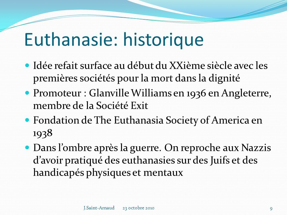 Euthanasie: historique