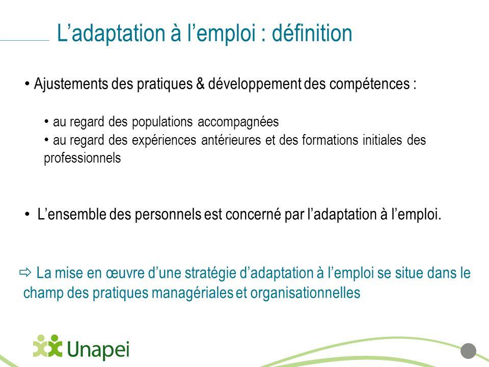 L'adaptation à l'emploi : définition