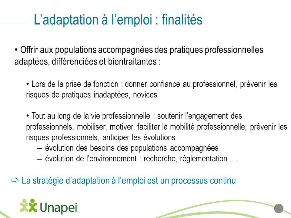 L'adaptation à l'emploi : finalités