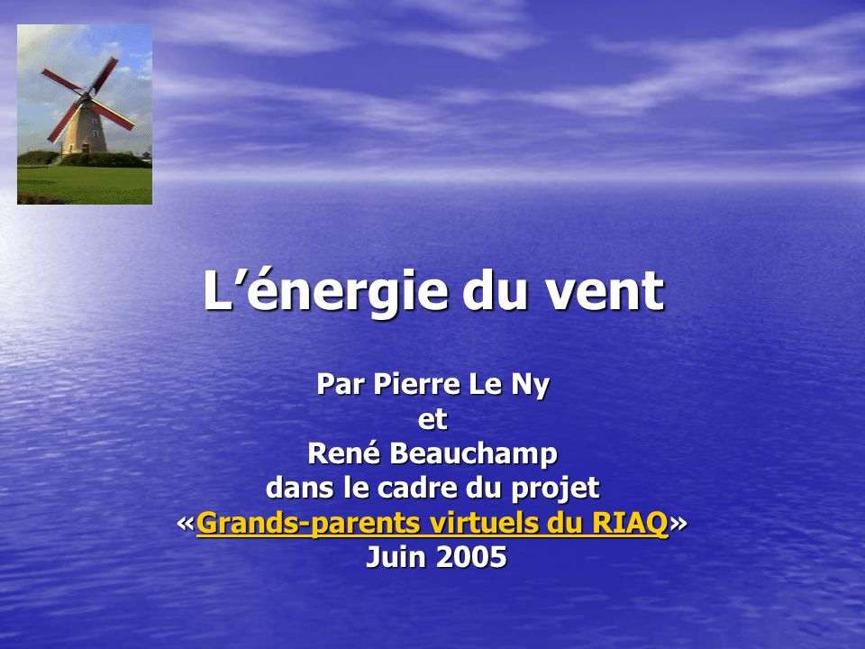 «Grands-parents virtuels du RIAQ»