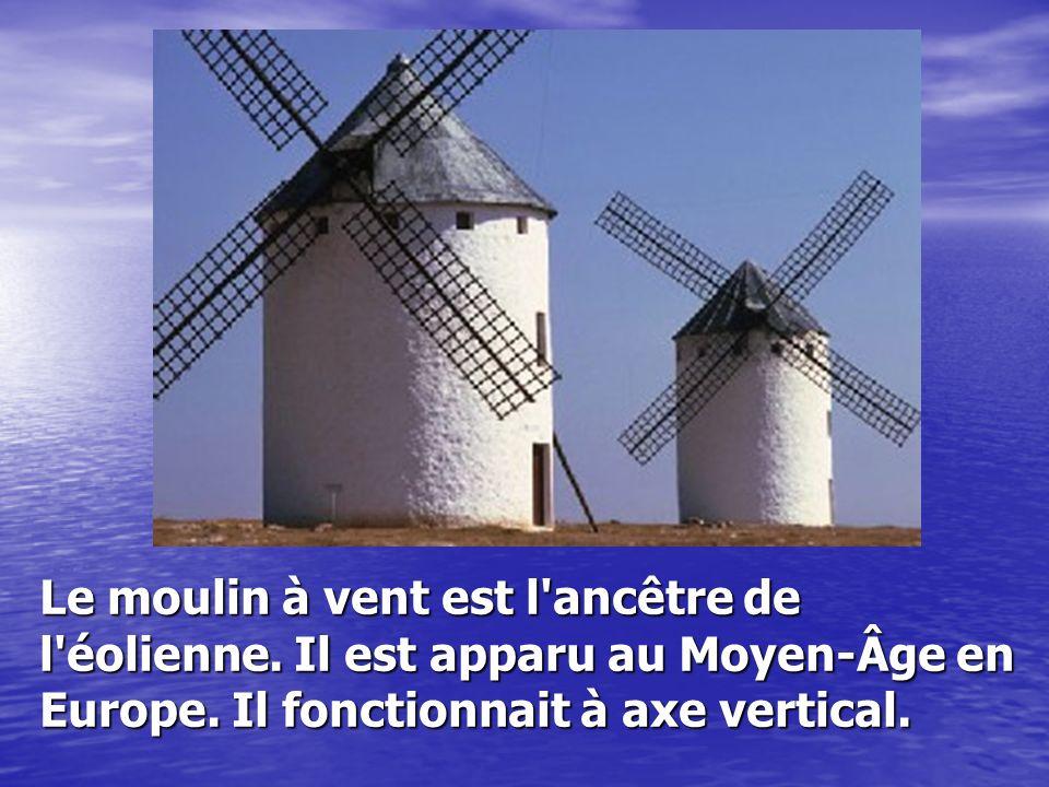 Le moulin à vent est l ancêtre de l éolienne