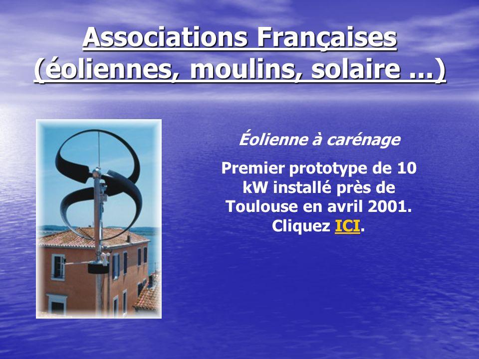 Associations Françaises (éoliennes, moulins, solaire ...)
