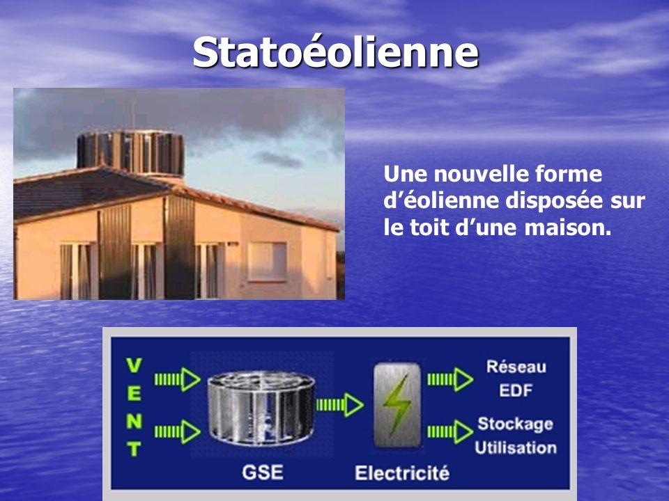 Statoéolienne Une nouvelle forme d'éolienne disposée sur le toit d'une maison.