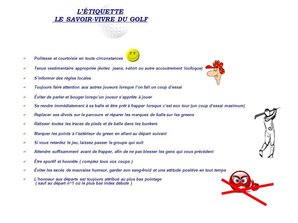 L'ÉTIQUETTE LE SAVOIR-VIVRE DU GOLF