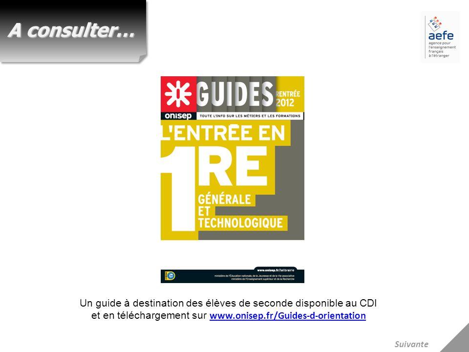 A consulter… Un guide à destination des élèves de seconde disponible au CDI et en téléchargement sur www.onisep.fr/Guides-d-orientation.
