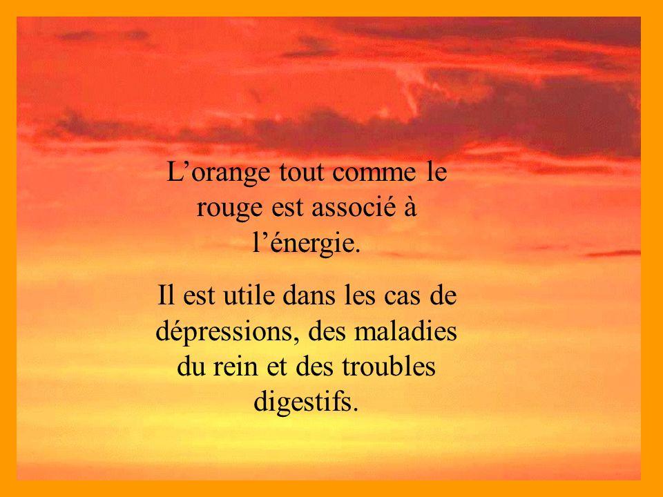 L'orange tout comme le rouge est associé à l'énergie.