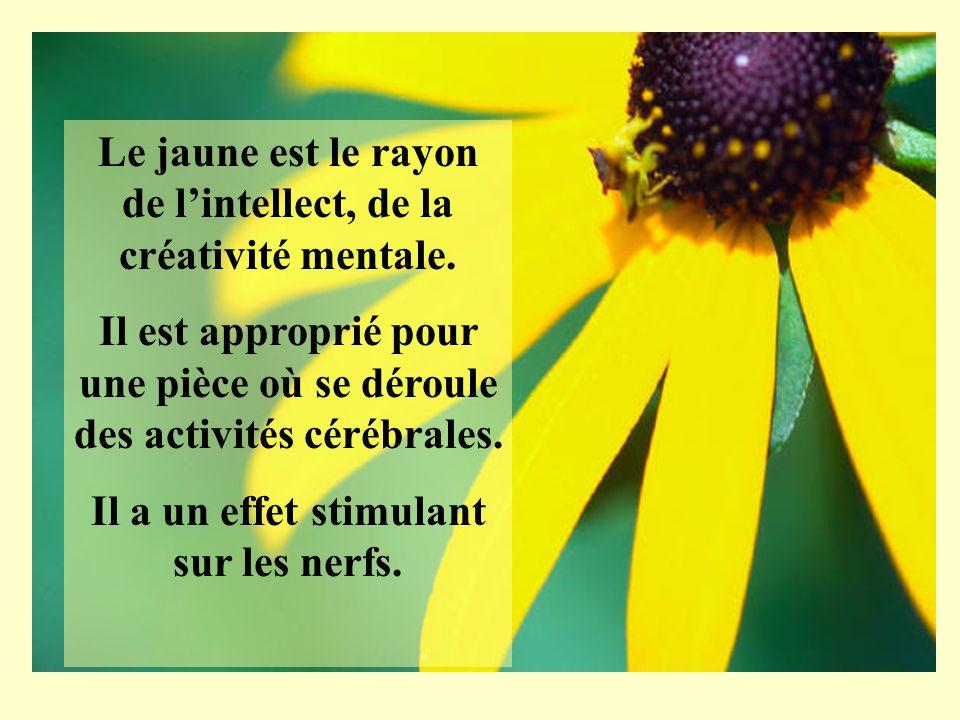Le jaune est le rayon de l'intellect, de la créativité mentale.