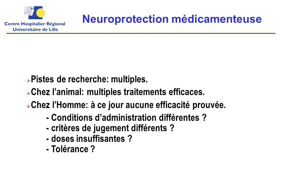 Neuroprotection médicamenteuse
