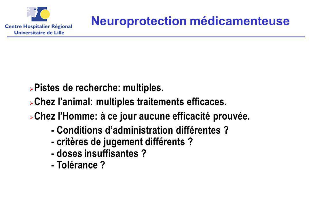 Neuroprotection médicamenteuse