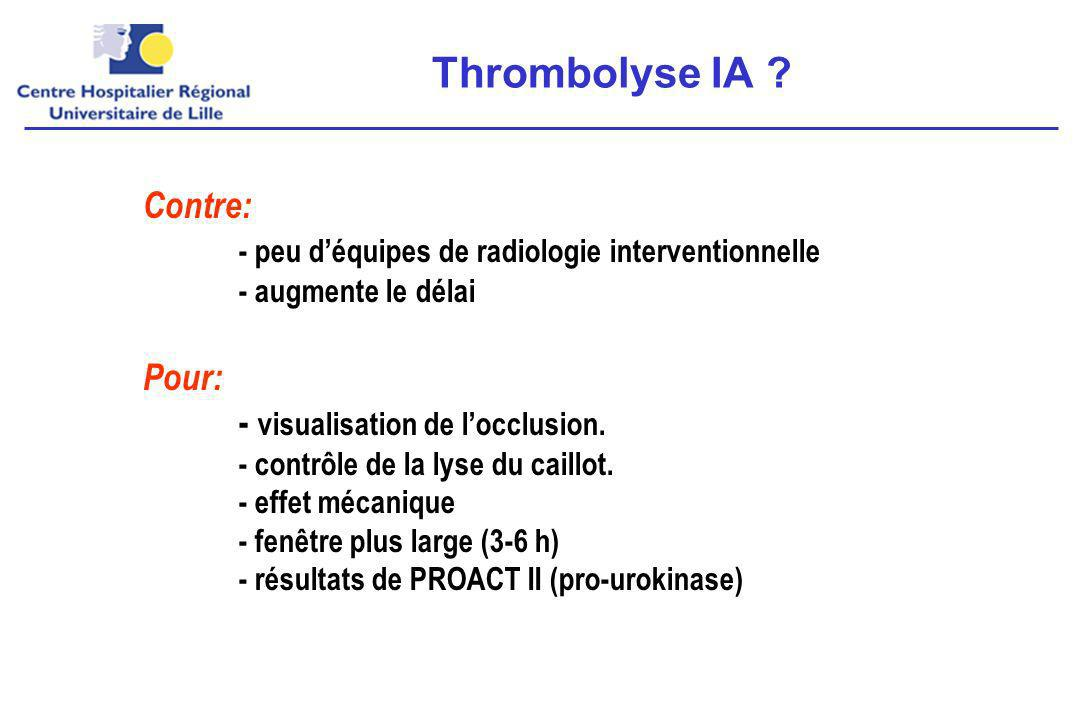 Thrombolyse IA Contre: