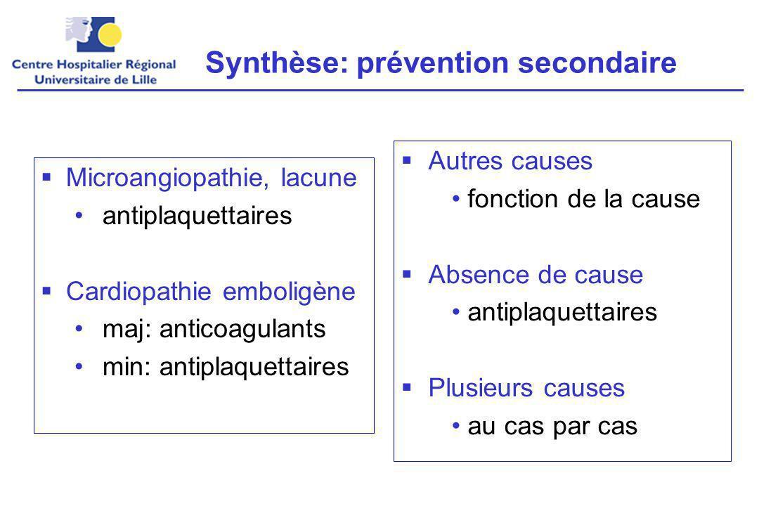 Synthèse: prévention secondaire