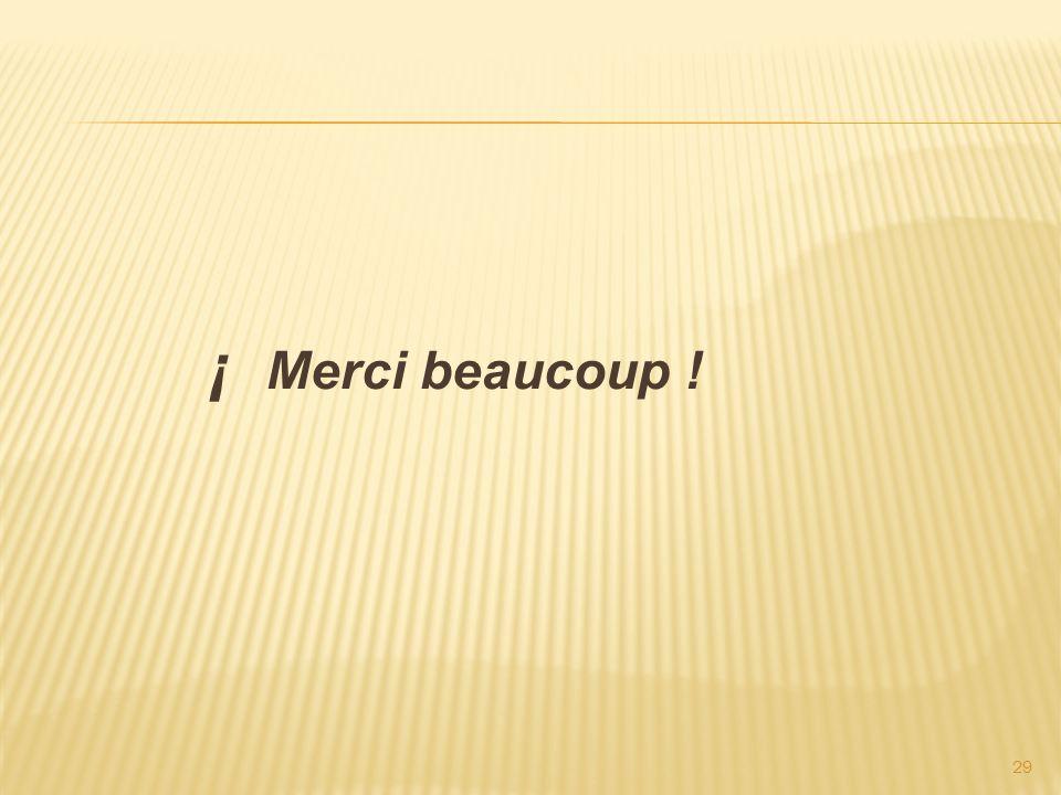 ¡ Merci beaucoup !