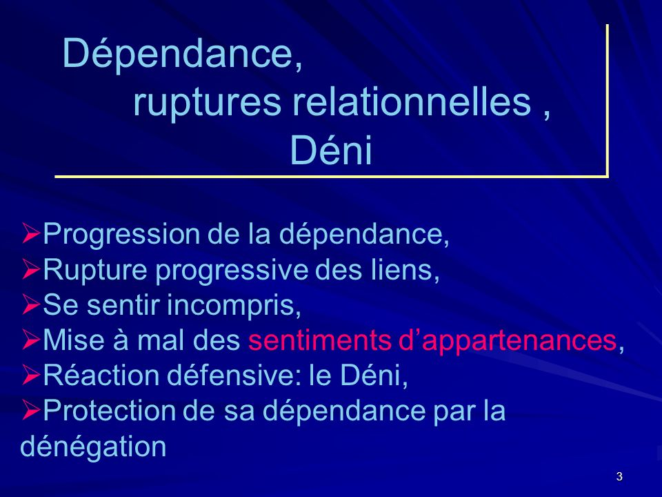 ruptures relationnelles ,