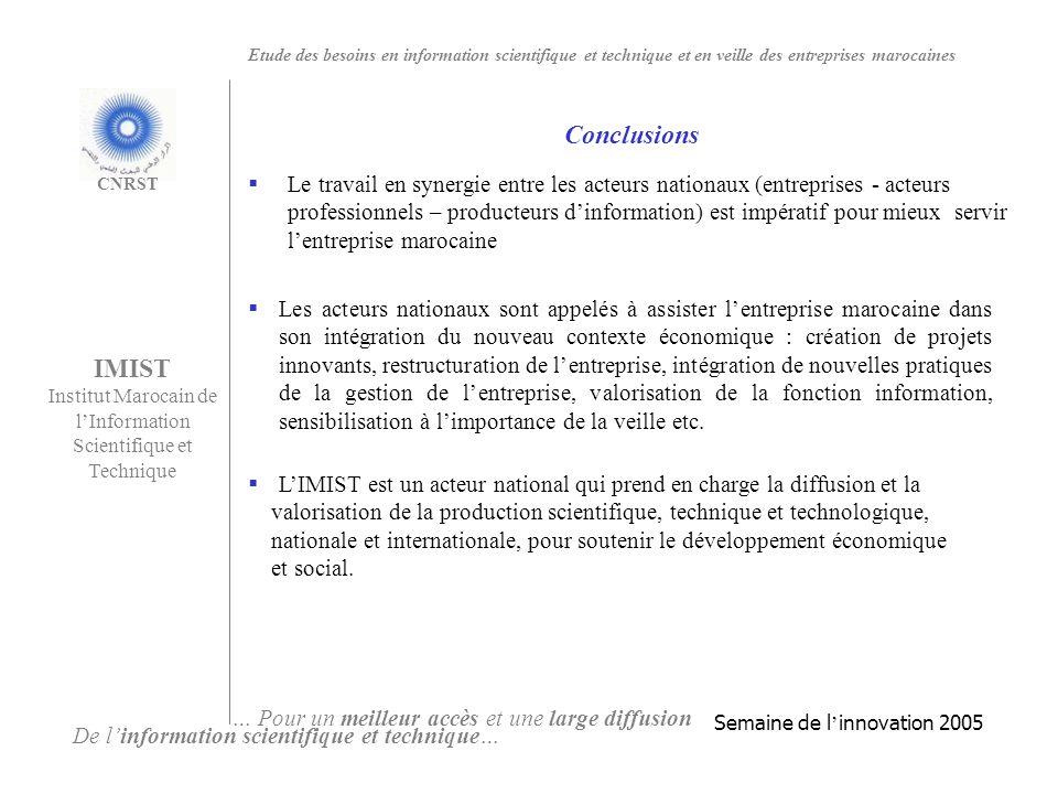 IMIST Institut Marocain de l'Information Scientifique et Technique