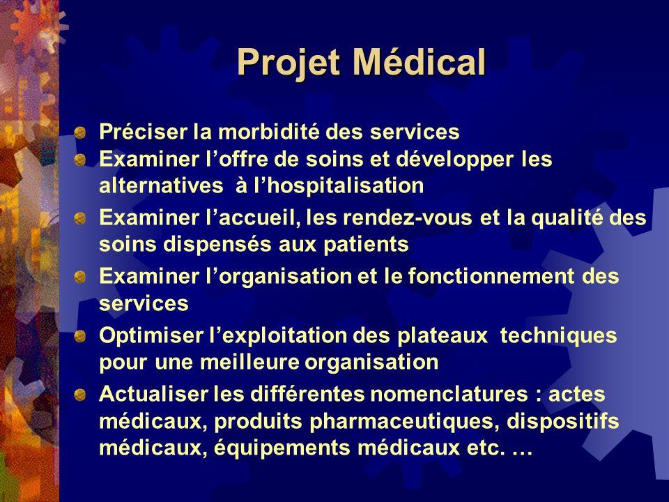 Projet Médical Préciser la morbidité des services