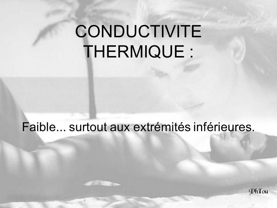 CONDUCTIVITE THERMIQUE :