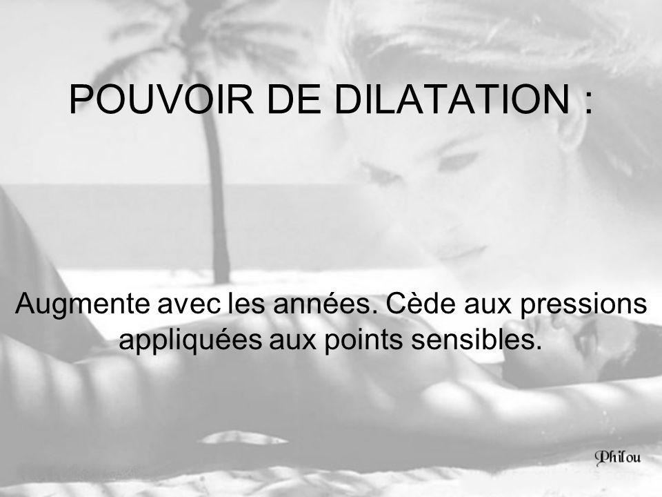 POUVOIR DE DILATATION :