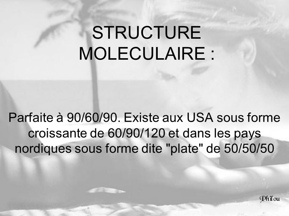 STRUCTURE MOLECULAIRE :