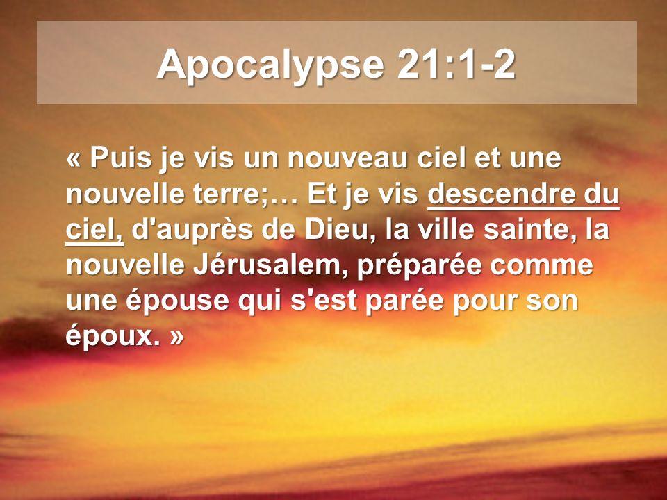 Apocalypse 21:1-2