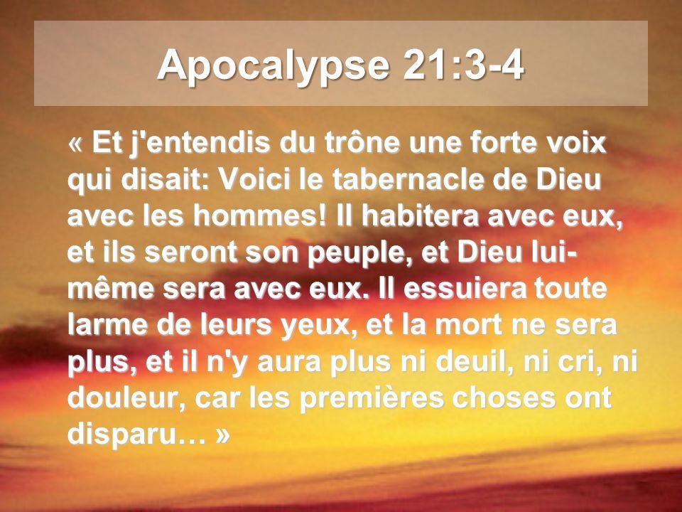 Apocalypse 21:3-4