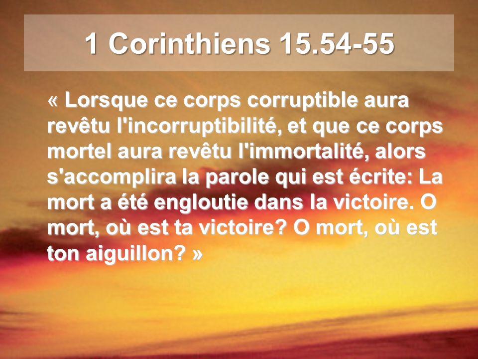 1 Corinthiens 15.54-55