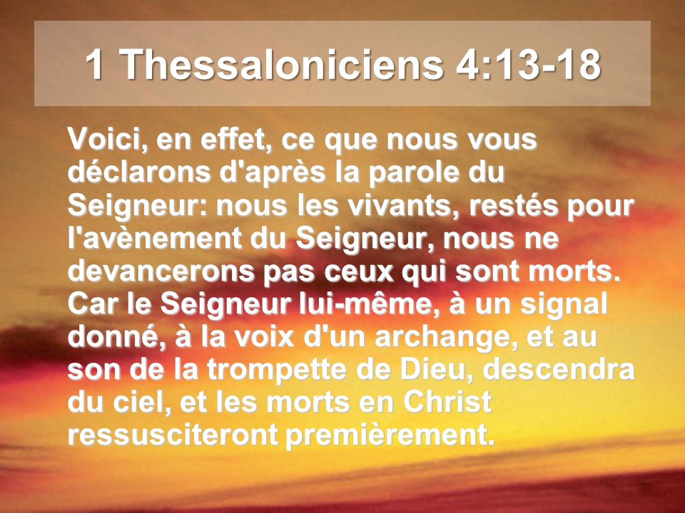 1 Thessaloniciens 4:13-18