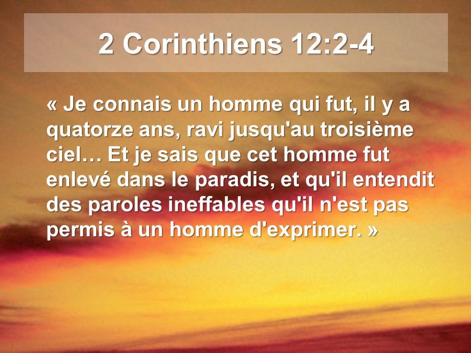 2 Corinthiens 12:2-4