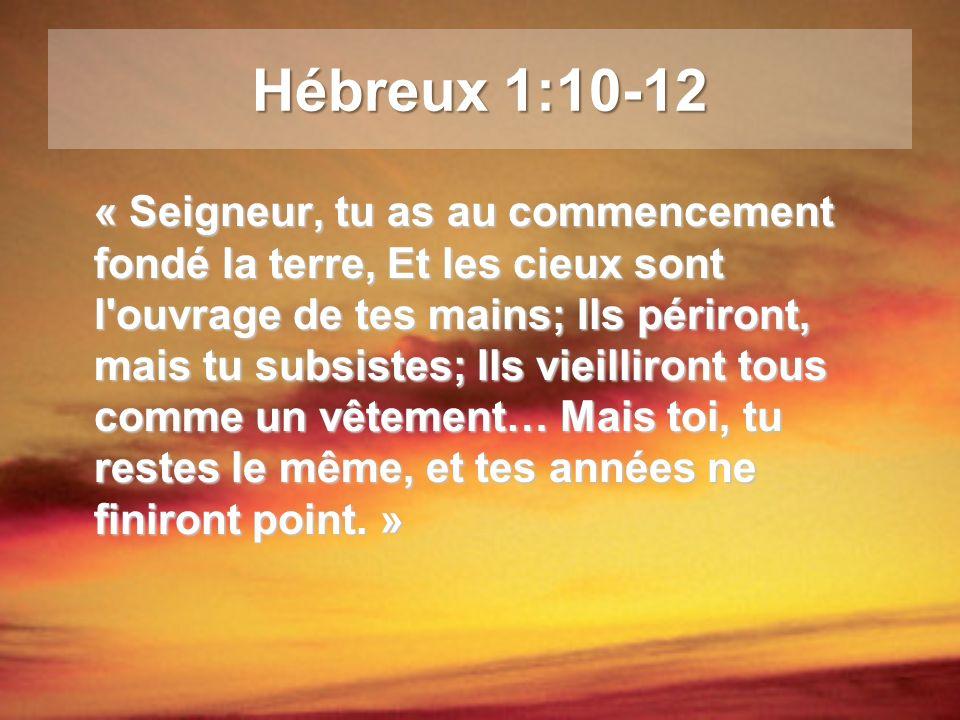 Hébreux 1:10-12