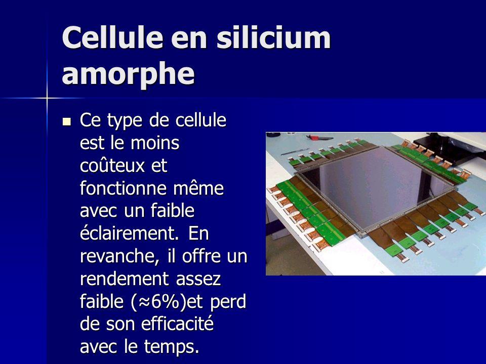 Cellule en silicium amorphe