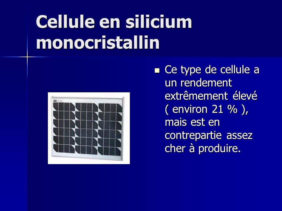 Cellule en silicium monocristallin