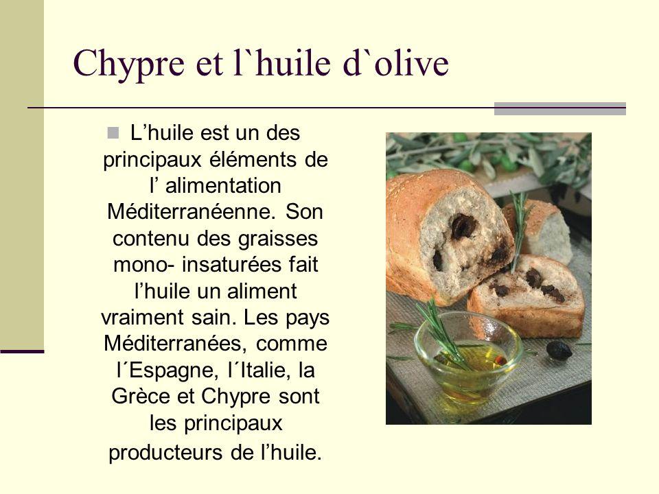 Chypre et l`huile d`olive