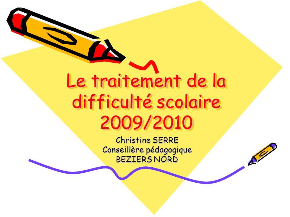 Le traitement de la difficulté scolaire 2009/2010