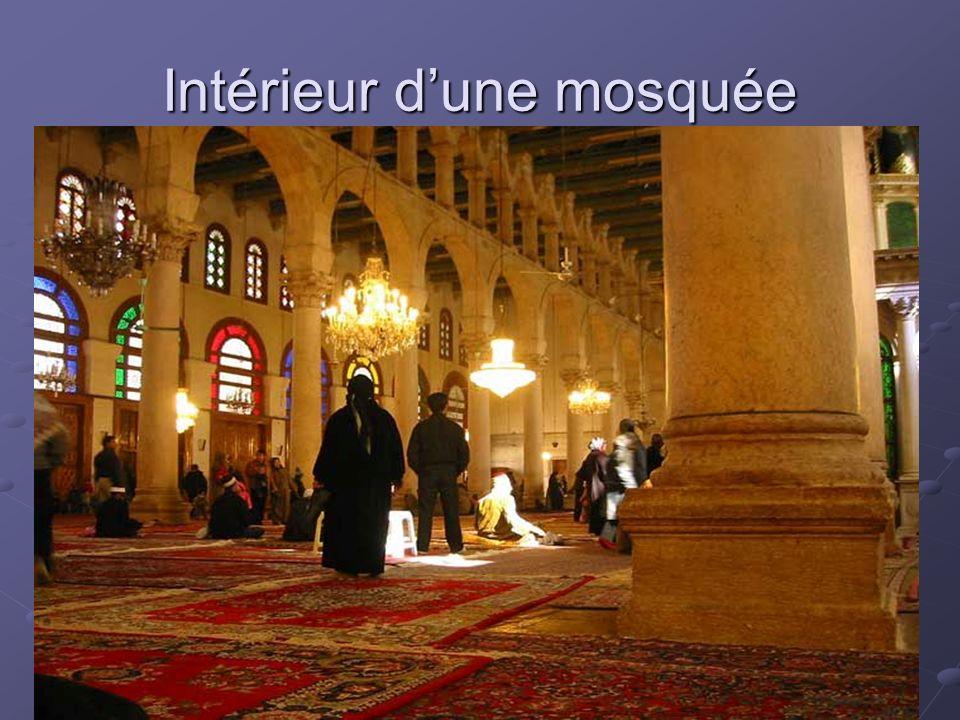 Intérieur d'une mosquée