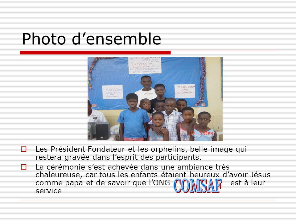 Photo d'ensemble COMSAF