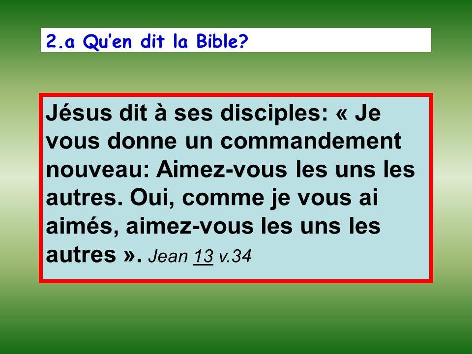 2.a Qu'en dit la Bible