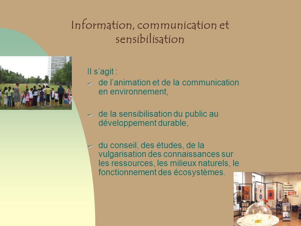 Information, communication et sensibilisation