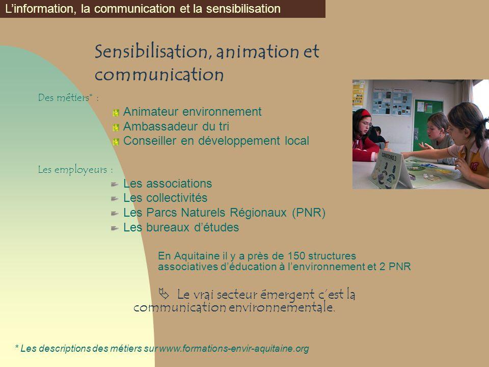 Sensibilisation, animation et communication