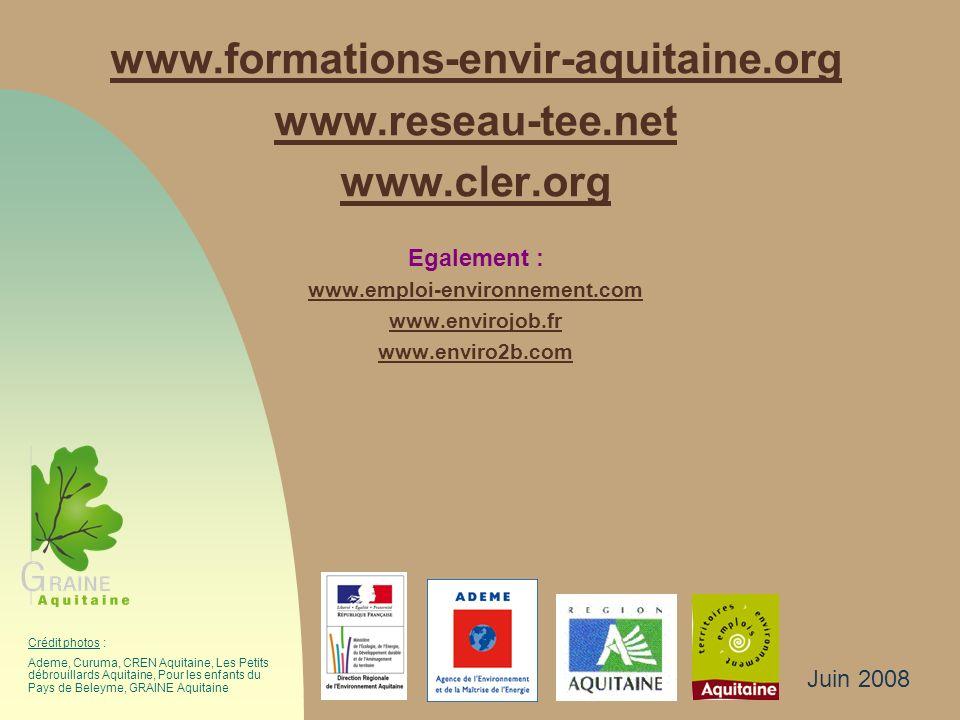 www.formations-envir-aquitaine.org www.reseau-tee.net www.cler.org
