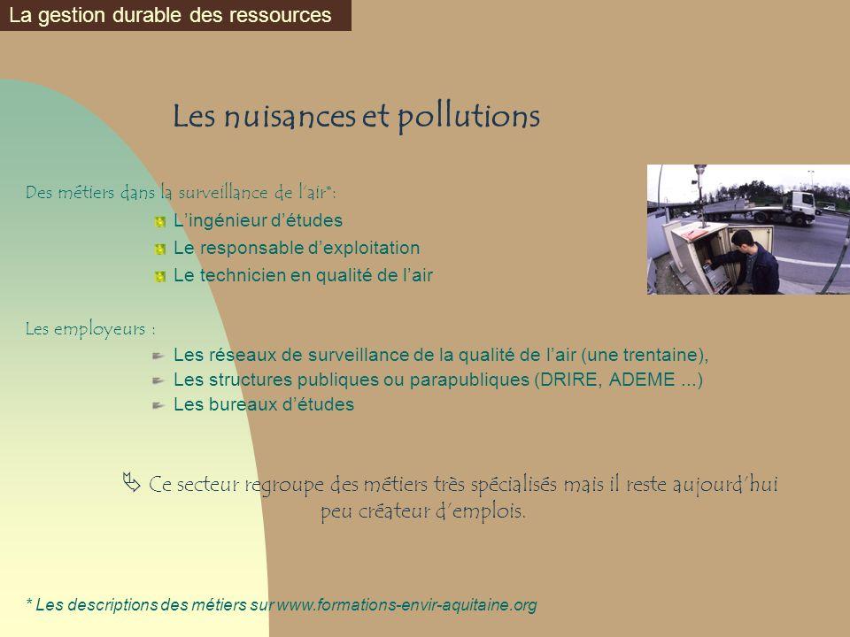Les nuisances et pollutions