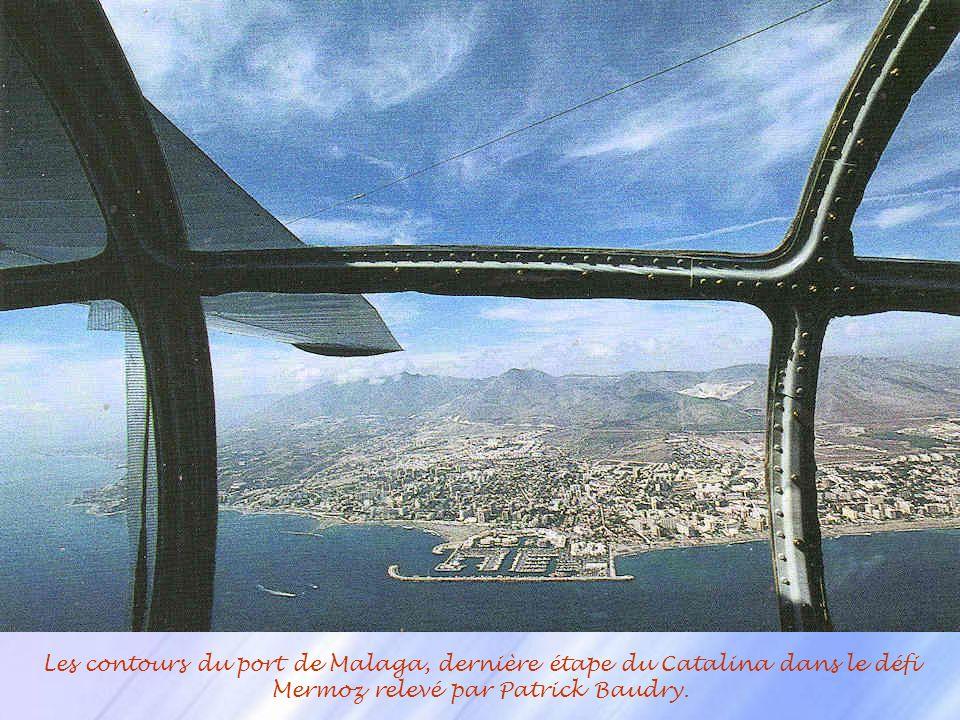 Les contours du port de Malaga, dernière étape du Catalina dans le défi Mermoz relevé par Patrick Baudry.