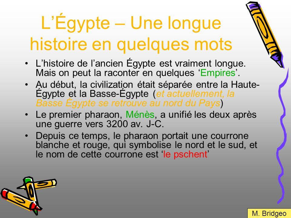 L'Égypte – Une longue histoire en quelques mots