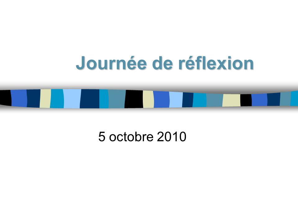 Journée de réflexion 5 octobre 2010